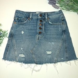We the Free Denim Skirt Size 25 Free People